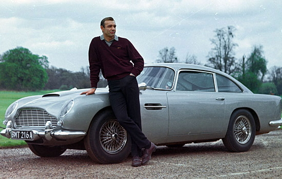 Aston Martin DB5 with James Bond