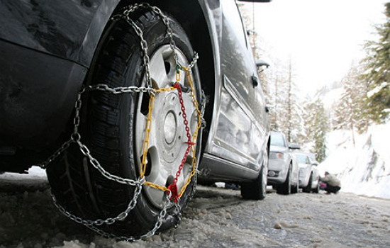 Chains on the tires