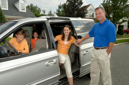 family arriving