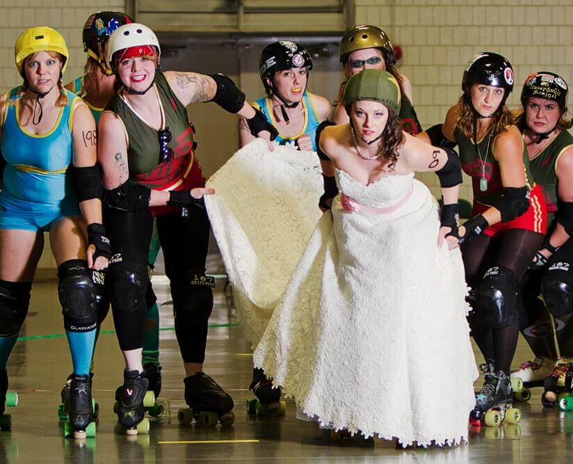 rollerblade wedding