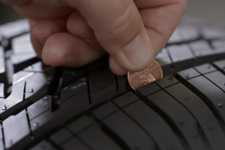 how to measure tire tread with a penny