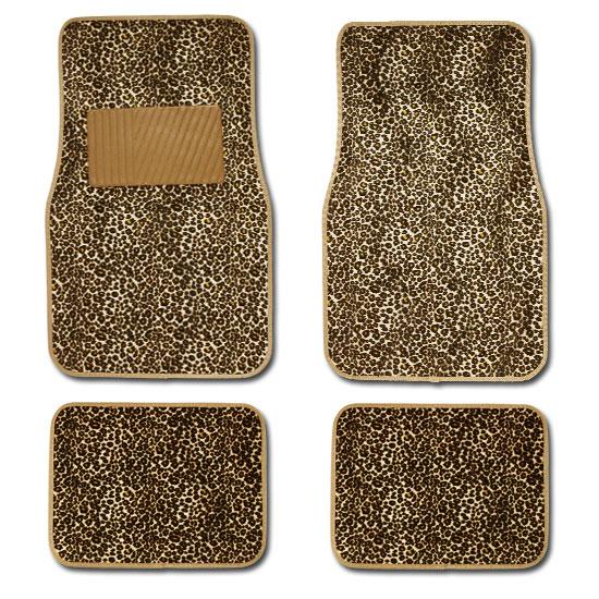Leopard Floor Mats