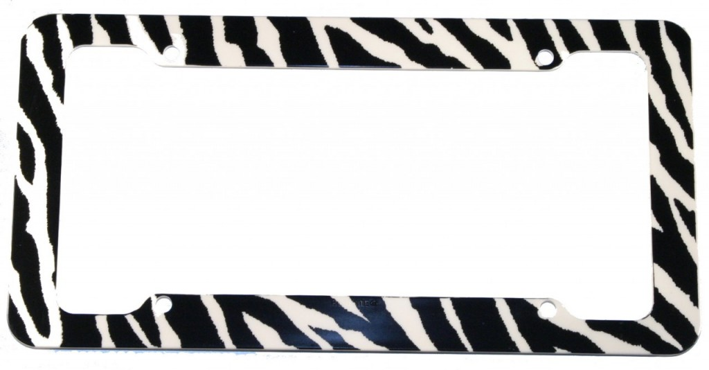 Zebra License Plate Frame
