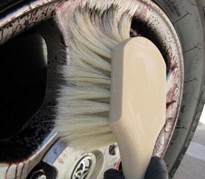 Natural Boar Hair Wheel Brush