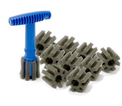Recessed lug nut brush