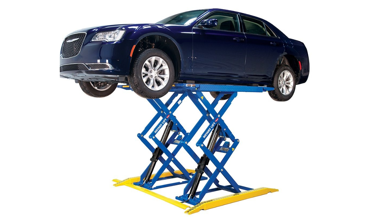 Scissor hydraulic car lifts