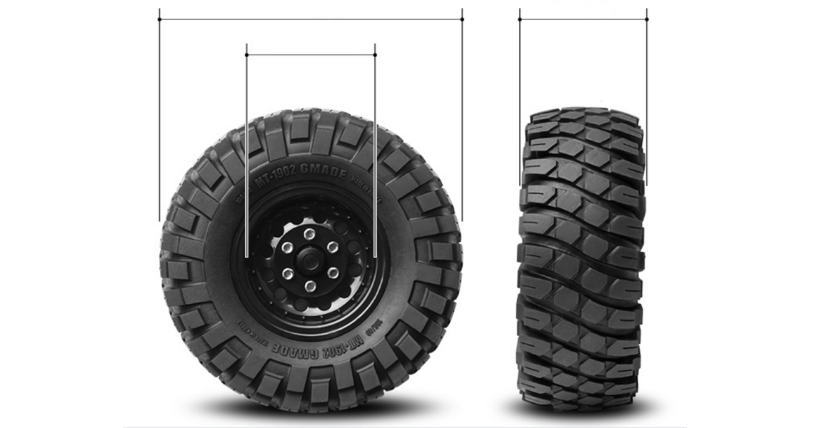 off-road tire sizes